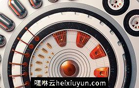 [08-10-16] – Vibes圆形钟表指针C4D动画工程文件分享