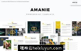 时尚高端多用途的高品质动物幻灯片Amanie – Powerpoint  #3914248