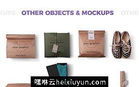 T恤衫及包装样机和场景模板 T-shirt and Packages Mockups & Scene Generator