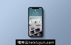 多角度的高品质iPhone X样机VI展示模型iphone-x-psd-mockup