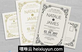 简单的婚礼Simple Wedding Invitation #720702