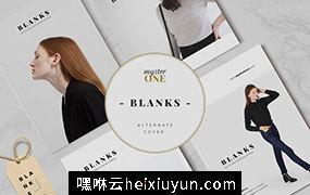 欧美现代大气的服装杂志模版素材 BLANKS | Minimal Lookbook/Magazines