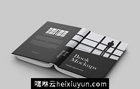 书籍封面排版设计贴图展示模版 Back View #060
