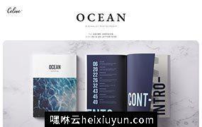 海洋主题杂志画册设计模板 OCEAN Lookbook & Magazine Template 3466635