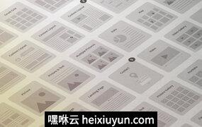 UX需求网站线框设计模板材Website Wireframe Kit