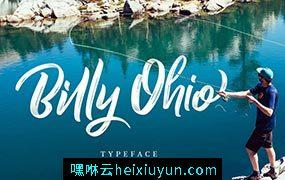 手写英文字体 Billy Ohio Typeface #1314138