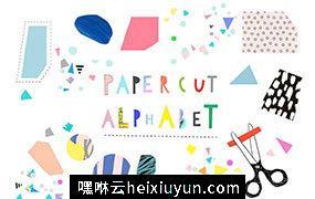 剪纸艺术英文字母设计素材 Paper CUT Alphabet #776448