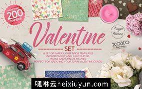 情人节主题背景素材合集 Valentine Set #1138499