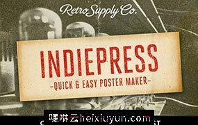 快速海报制作图层样式 IndiePress Quick #90748