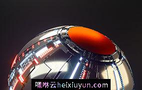 [16-04-17] – Packed能量铁球C4D动画工程文件分享