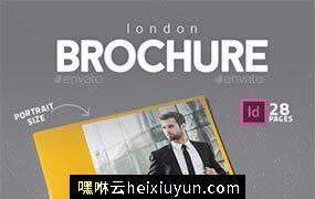 现代风格公司宣传画册模板 London Brochure 21756423