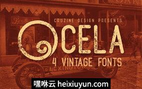 个性复古封面Ocela Typeface #806018