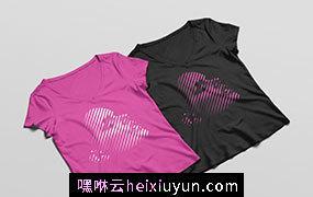 女性T恤贴图展示模版 Woman T-Shirt MockUp PSD