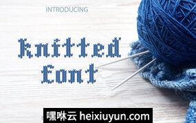 针织字体SUMMER SALE -33%! Knitted font #1723466