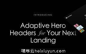 大标题横幅广告图头图banner海报设计素材模板Adaptive Hero Headers
