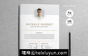 现代简洁简历设计模板 Clean-Resume-Booklet-8-Pages #1912797
