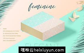优雅的女性主题的线型图案 Feminine Elegant Line Patterns #1251735