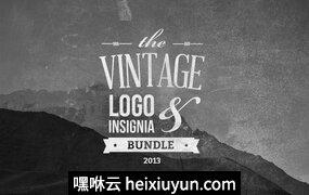 复古风格徽标Vintage Logo -amp; Insignia Bundle #10008