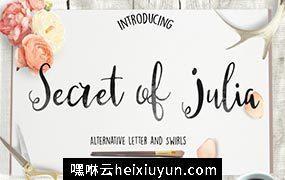 朱莉娅的秘密脚本字体 Secret of Julia Script Font #909211