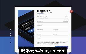 注册表单界面设计 Register Form Template  每日UI源文件分享 Daily UI #300