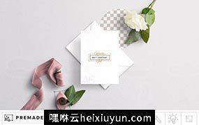 信封邀请函样机模板 Wedding Invite Envelope Mockup #277285