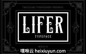 高端黑色字母背景Lifer #59135