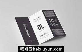 三折传单小册子样机模板 Tri-Fold DL Brochure Mock-up 3