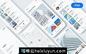 现代房地产物业租赁移动应用程序 UI 工具包 Property Rental App