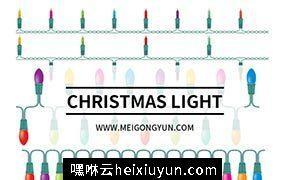 圣诞灯节日灯矢量元素Christmas Light
