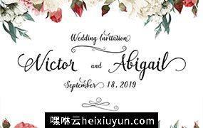 结婚请柬封面设计Wedding invitation cover