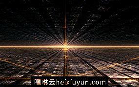 金色科技感空间光效高清背景设计素材High definition background_458112079