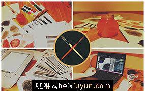 手绘水彩笔刷 150 Handcrafted Watercolor Brushes #34761