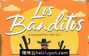 10沙漠风格字体 Los Banditos – Font Duo #1743460