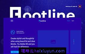 时尚Web网页线框原型设计UI工具包 Rootline Wireframe UI Kit