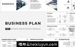 国外流行的业务计划书PPT模板Business Plan Keynote Template #1498964
