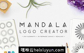 创意曼荼罗logo包 Mandala Logo Creator Kit #492346