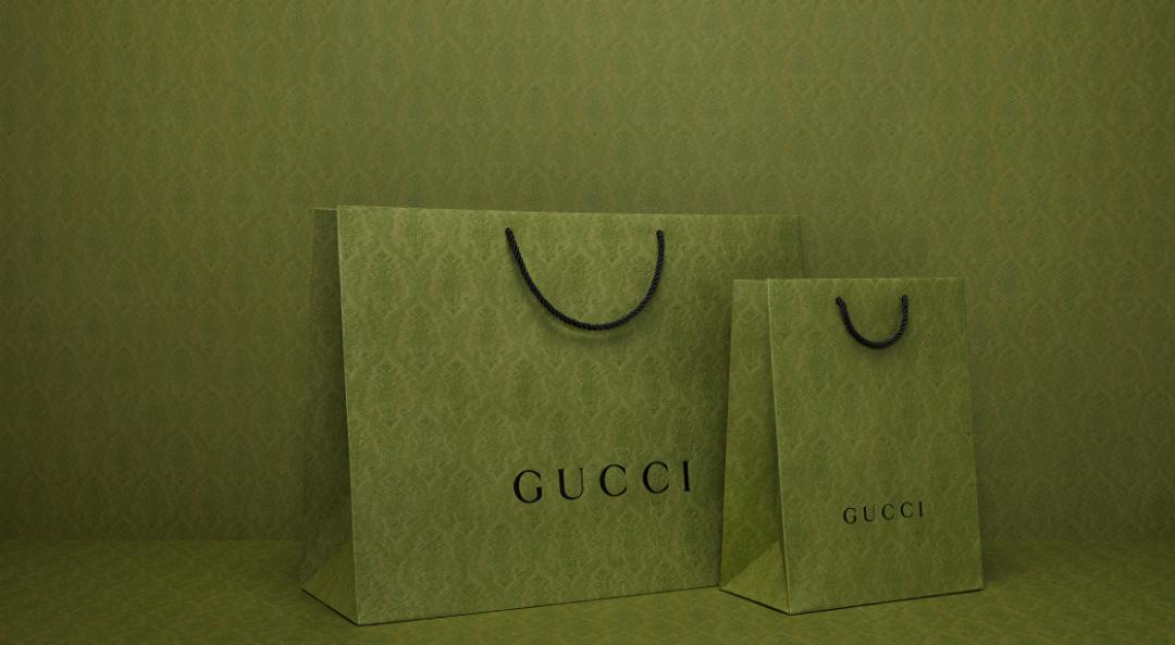 Gucci启用全新绿色购物袋的背后