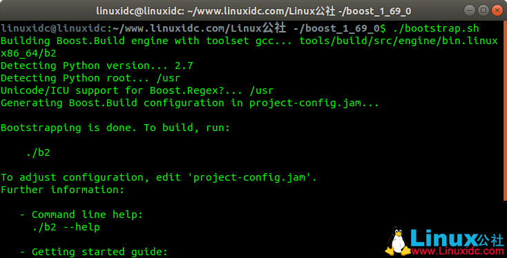 Linux:编译安装boost 1.69库Linux:编译安装boost 1.69库