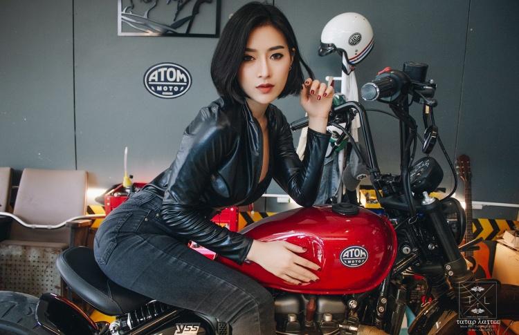 摩托车大胸女骑手正妹Supranee Fankham 妹子图 热图6