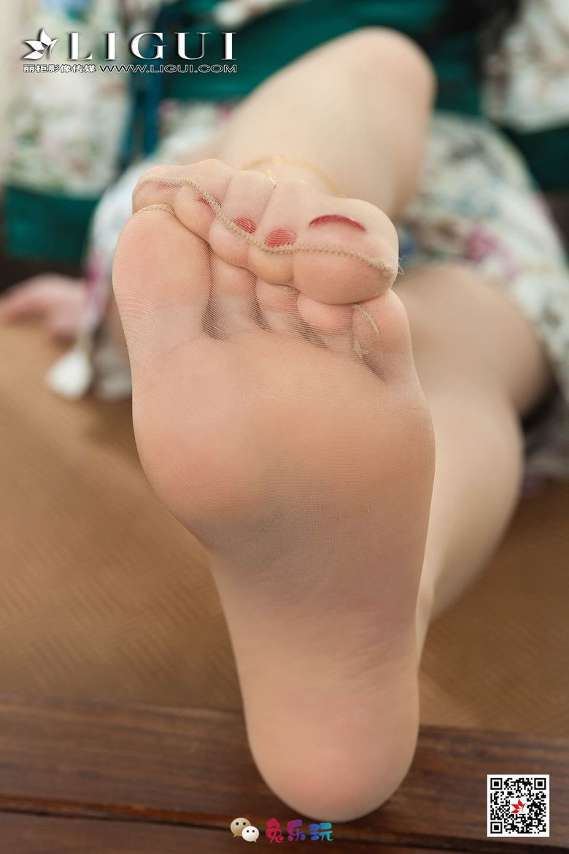 【丽柜Ligui】腿模Yaya写真 和服玉足